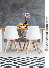 Table in modern dining room