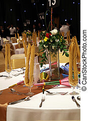 table, installation, dîner, gala