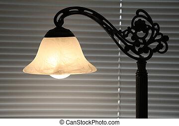 table lamp close up shot