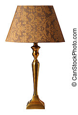 Table lamp - Decorative table lamp isolated on white ...