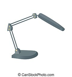 Table lamp icon, cartoon style