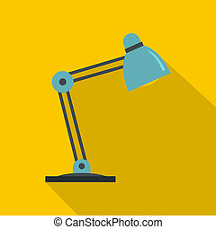 Table lamp icon, flat style
