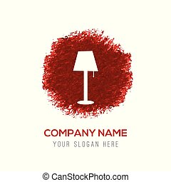 Table Lamp Icon - Red Water Color Circle Splash