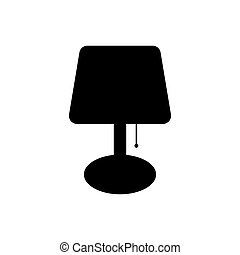 Table lamp icon vector illustration isolated