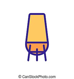table lamp icon vector outline illustration