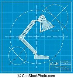 table-lamp, icon., wektor, eps10