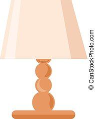 Table lamp, illustration, vector on white background.