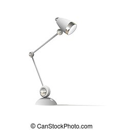 Table lamp isolated on white background vector illustration. Icon flat
