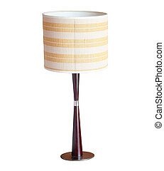 table lamp isolated on white background with clipping path