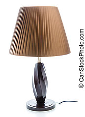 Table lamp isolated on white