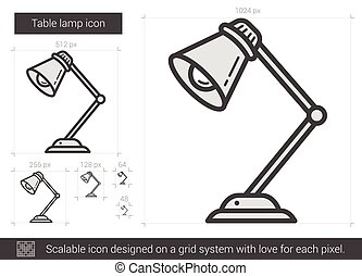 Small Table Lamp Stock Illustrations 433 Small Table Lamp Clip Art
