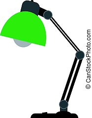Table lamp on a white background