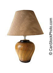 Table lamp on a white background.