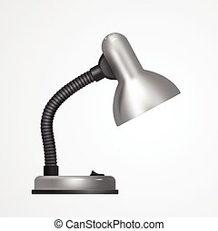 Table lamp. Realistic design. Vector illustration