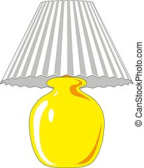 Table lamp. Vector illustration lamp light isolated electric interior energy furniture.