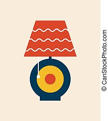 Table Lampshade Modern Style Vector Illustration
