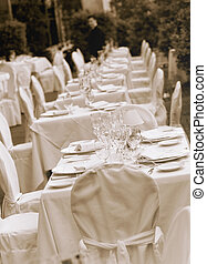 table, mariage