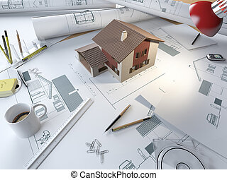 Project maison virages mod le dessin 3d project for Table 3d dessin