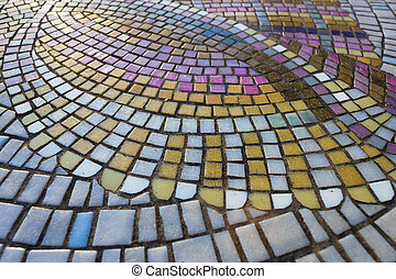 Table Mosaic - Table top with mosaic tile patterns
