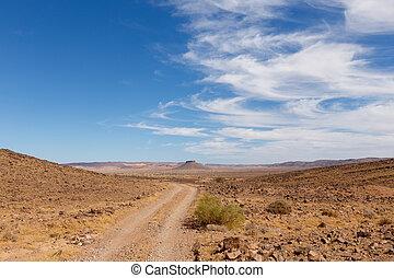 table mountain in the Sahara desert, Morocco