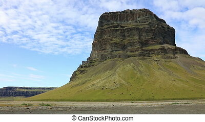 Table mountain Lomagnupur, Southern Iceland. - Landscape...