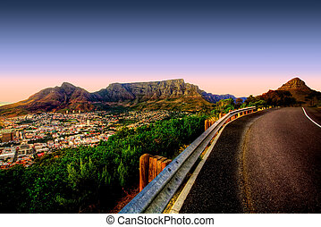 Table Mountain Road - Beautiful view of Table Mountain in...