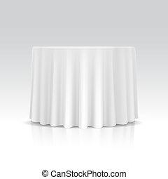 table, nappe, vecteur, rond, vide