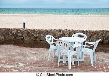 Table near sea