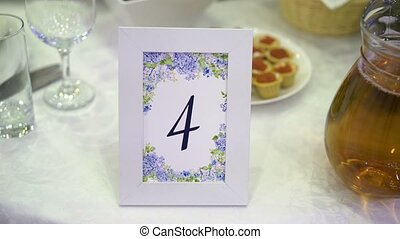 Table number at the party