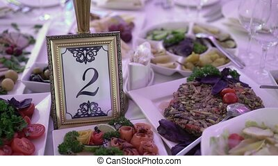 Table number on a party decoration