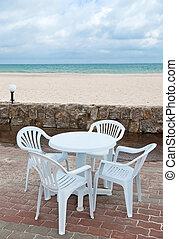 Table on the beach