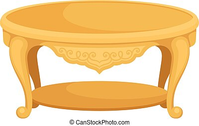 Table on white background. Vector flat illustration.