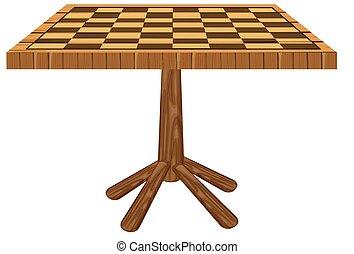 table, panneau vérificateur, découpé