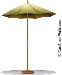 table, parapluie