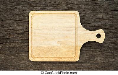 table, planche, bois, vieux, découpage