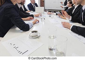 table, réunion, professionnels