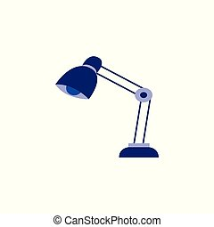 Table reading-lamp for education or work isolated on white background.