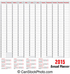 Table schedule - Annual Planner 2015