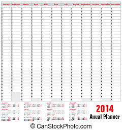 Table schedule - Anual Planner