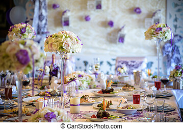 ... Table setting at a luxury wedding reception. Ex&le of. & Setting examples Stock Photos and Images. 297 Setting examples ...