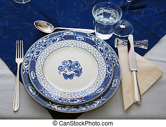 table setting Dinner table