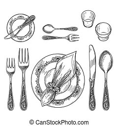 Table setting drawing