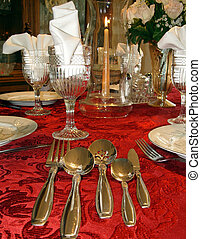 Table setting elegant and formal - Formal table setting for...