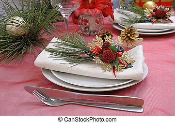 Table setting for Christmas and New Year