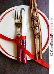 Table setting - Table set for celebration St. Valentine's...