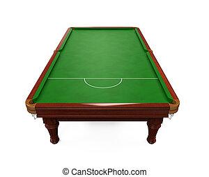Table billard isol render isol arri re plan table - Taille table snooker ...