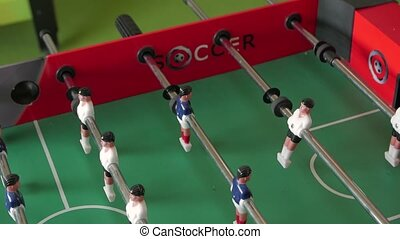 Table soccer closeup camera movement