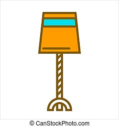 Table straight lamp isolated on white vector illustration -...