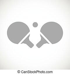 Table tennis black icon