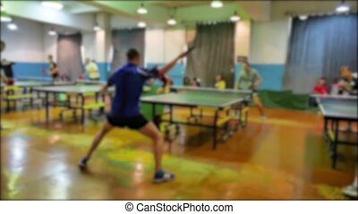 table tennis blurred slow motion video. beautiful the game...